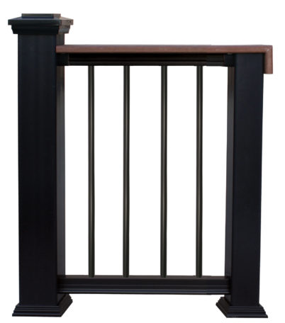 CP315 Composite Railing for Deck Board with Round Aluminum Balusters