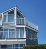 A210 Aluminum Over-The-Post Side/Fascia Mount with Square Aluminum Balusters in White