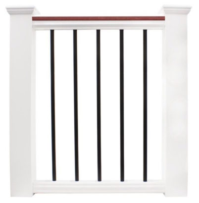 P315 Cellular PVC Railing with Aluminum Round Balusters